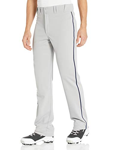 EASTON RIVAL 2 Baseball Softball Pant | Adult | Small | Grey Navy | 2020 | Double Reinforced Knee | Elastic Waistband w/ 2 Color Internal Easton Logo | 2 Batting Glove Pockets | 100% Polyester