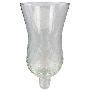 Clear Tulip Swirl Peg Votive Holder Cup