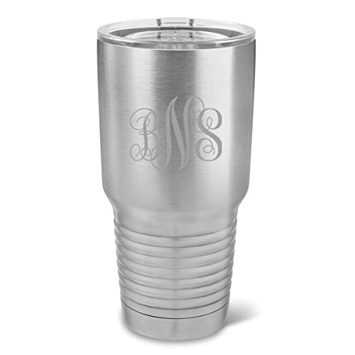 Personalized 30 oz. Stainless Steel Double Wall Insulated Monogrammed Tumbler