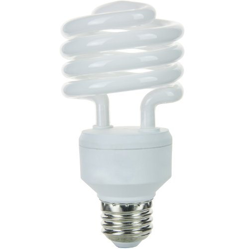 23w Compact Fluorescent Lamp - Sunlite SMS23/65K 23-watt Medium Base Super Mini Spiral Energy Saving CFL Light Bulb, Daylight