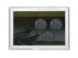 Flying Tigers Frosty Case - Steel Cent Holder - 2 x 3 (3 pack) -