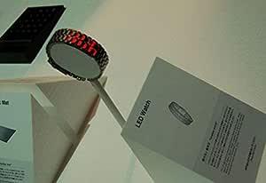 ساعة يد ايرون فيسليس احمر باينري ليد للرجال اسود