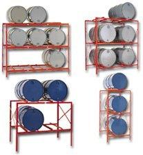 - Meco Drum Storage Racks - 3 Drums - Orange