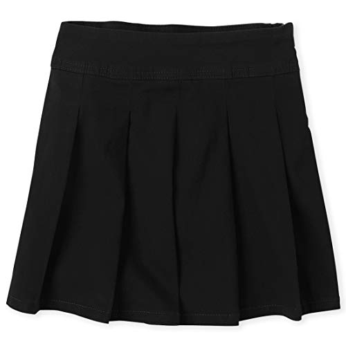 (The Children's Place Girls' Little Uniform Skort, Black 3300, 5)