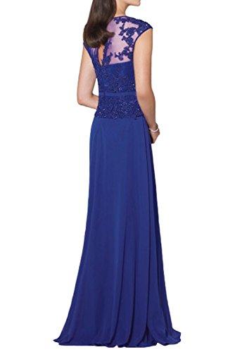 Hundkragen Partykleider Ballkleider Spitze La Royal Dunkel Blau Brautmutterkleider mia Braut Neu 2018 Abendkleider Etuikleider Elegant mit R8wTX