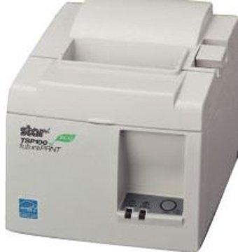Star Micronics TSP100 ECO Series Thermal Receipt Printer, USB, USB Cable, Putty, Internal Power Supply