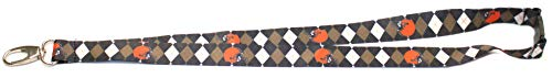 - Pro Specialties Group NFL Cleveland Browns Argyle Lanyard, Brown, One Size