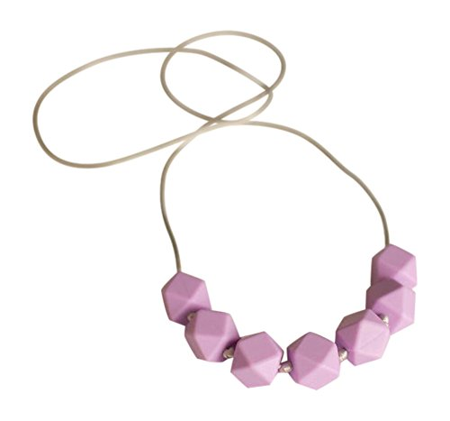 Little Teether Geo Teething Necklace For Baby Nursing   Stylish Silicone Necklace For Moms  Teether For Babies  Provides Teething Pain Relief  Teething Remedy Approved By Mothers    Lilac