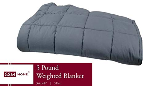 Cheap GSM Home Weighted Blanket - Premium Kids - for Children - 5 lbs 36 x 48 inches Black Friday & Cyber Monday 2019