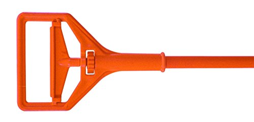 Impact WH91 Plastic Janitor Mop Handle with 7-5/8'' Head, 57'' Length x 1'' Width, Orange (Case of 12) by Impact Products