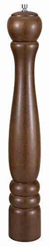 """Winco WPM-18 18"""" Oak Finish Traditional Pepper Mill"""