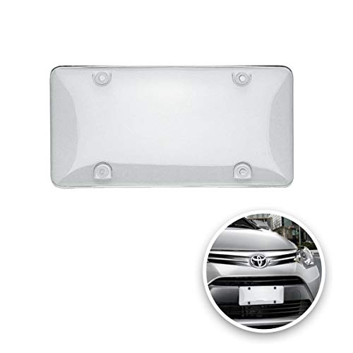 VaygWay Car License Plate Cover- Clear License Shield 2 Cover-Fits All Standard US Plates- Front and Back Novelty License Plates