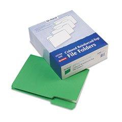 - Pendaflex Reinforced Top Tab File Folders, 1/3 Cut, Letter, Green, 100/Box
