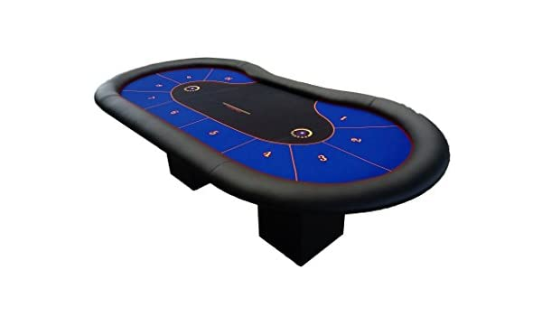 Newpokertable.Mesa de poker azul de 244x122 ,resistente de alta ...