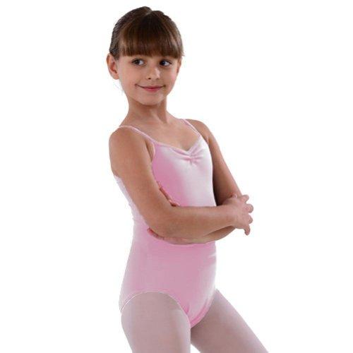 So Danca Lt Pink Camisole Pinched Neckline Dance Leotard Girls 8-10 - Pinched Neckline Dance Leotard