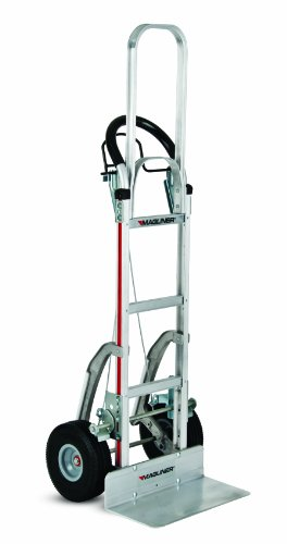 Magliner NPK122G2C5C Aluminum Paddle Brake Hand Truck, U Frame Extension, Loop Handle, Foam Filled 10