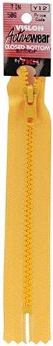 American & Efird 18 7-506 YKK Vislon Closed Bottom Zipper, 7-Inch, Buttercup