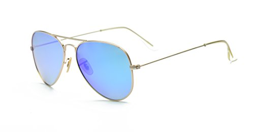 f04fc661e34 LUENX Men Aviator Sunglasses Polarized - UV 400 Protection with case 60MM  Classic Style