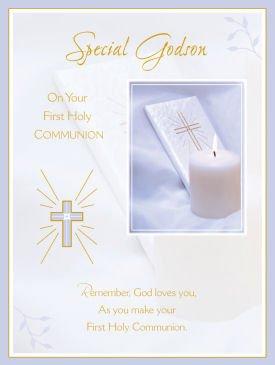 Godson first holy communion greeting card amazon kitchen home godson first holy communion greeting card m4hsunfo