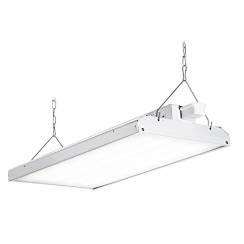 Hyperikon 2 Foot LED High Bay Lighting Fixture, 300 Watt Replacement (105W), Commercial Indoor Linear Light, 5000K, Motion Sensor