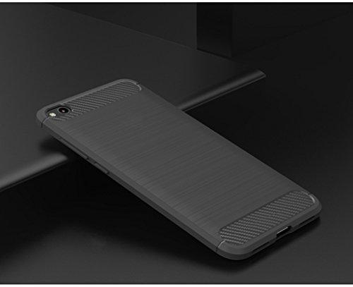 Funda Xiaomi Mi 5C,Funda Fibra de carbono Alta Calidad Anti-Rasguño y Resistente Huellas Dactilares Totalmente Protectora Caso de Cuero Cover Case Adecuado para el Xiaomi Mi 5C B