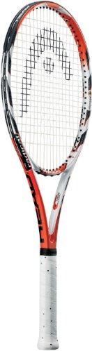HEAD MicroGel Radical OS Tennis Racquet, Strung, 4 1/4 Inch Grip