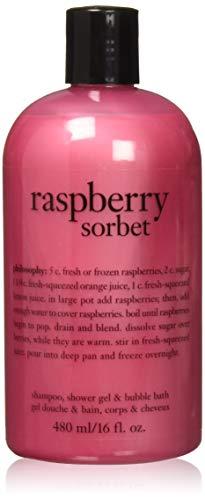 Gel Philosophy Shower Moisturizing - Philosophy Raspberry Sorbet Bath and Shower Gel for Unisex, 16 Ounce