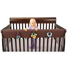 Leachco Easy Teether XL - Crib Rail Cover For Convertible Cribs - Chocolate