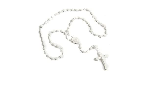 Amazoncom 100 White Plastic Prison Issue Rosary Beads Home Kitchen