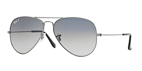 Ray-Ban RB 3025 Aviator Gunmetal w/ Gray Polarized Lens - 14 Ray 55 Ban Aviator