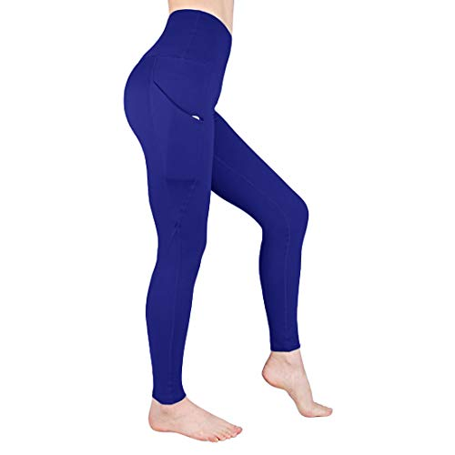 (Yoga Pants for Women with Pocket - Tummy Control High Waist Athletic Leggings Women GYM Running 4 Way Stretch Workout Pants (M(US: 8-10), Royal Blue))