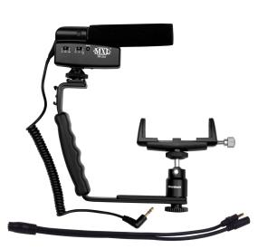 Mobile phone video recording kit for ipod, android