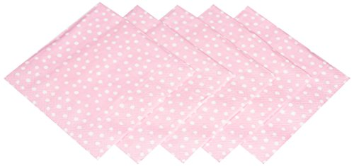 Entertaining with Caspari Luncheon Napkin, Small Dots Pink, - Luncheon Pink Napkins