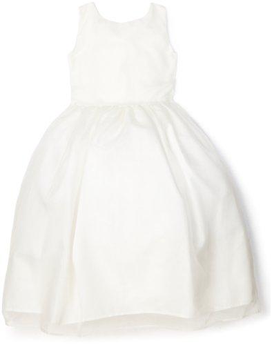 Us Angels Little Girls' Classic Organza Full Skirt Dress, Ivory, 6x