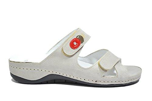 Grunland Ciabatte zeppa grigio sandali donna PLANTARE ESTRAIBILE CE0170