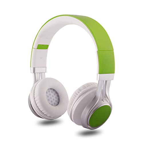 Alltrum On-Ear Headphone, Adjustable Headsets for Kids, Children, Teens, Adults, Foldable Headphones with Microphone, Wired Modes Compatible for Cellphones/ PC/ iPad/ MP3/ MP4,Green
