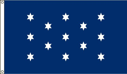Chief Canvas - America's Flag Company 2-Foot by 3-Foot Nylon Washington's Commander In Chief Historical Flag with Canvas Header and Grommets