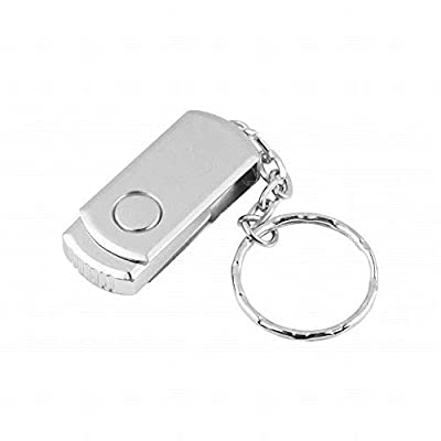 128GB 256GB 1TB 2TB USB 2.0 Flash Drive Metal Swivel High Speed Memory Stick Thumb Pen Gifts (256GB, Silver) from ADLA-03