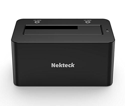 Nekteck USB Type C USB3.1 (USB-C) to SATA 2.5/3.5 Inch External Hard Drive Disk Docking Station Enclosure for for 3.5'' 2.5'' SATA HDD and SSD [Support Up to 8TB] - Tool Free, 1 Bay by Nekteck (Image #2)