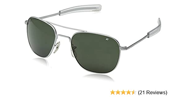 Amazon.com  American Optical Pilot Aviator Sunglasses 57 mm Silver Frame  with Bayonet Temples and True Color Gray Glass Lenses  Sports   Outdoors 2eef0a4ae1f