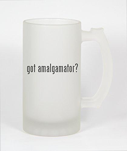 got amalgamator? - 16oz Frosted Glass Beer Stein