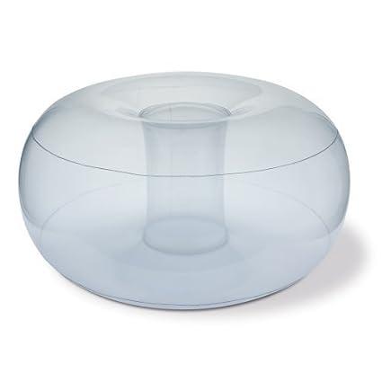 Reposapiés inflable de PVC / Puff - transparente redondo asiento ...
