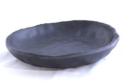 Lucky Star Melamine Round Dishes Plates Bowls Japanese Cuisine Snack Sashimi Sushi Canape Serving, 6.5 inch, Black (80)