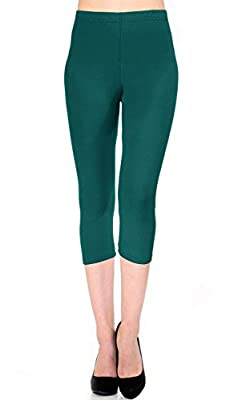VIV Collection Full Length Women's Solid Color Brushed Leggings (XS - 2XL)