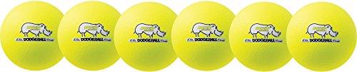 (Champion Sports Rhino Skin Dodgeball (Set of 6, Neon Yellow, 6