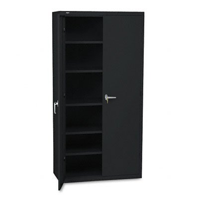 HON Brigade Series Five-Shelf Storage Cabinet - High Storage Cabinet, 36w by 18d by 72h , Black (HSC1872) by HON
