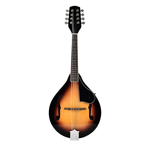 LAGRIMA A Style Wood Mandolin 8 Strings Elegant Cambered Acoustic Folk World Musical Instrument