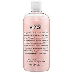 amazing grace, perfumed shampoo, bath & shower gel