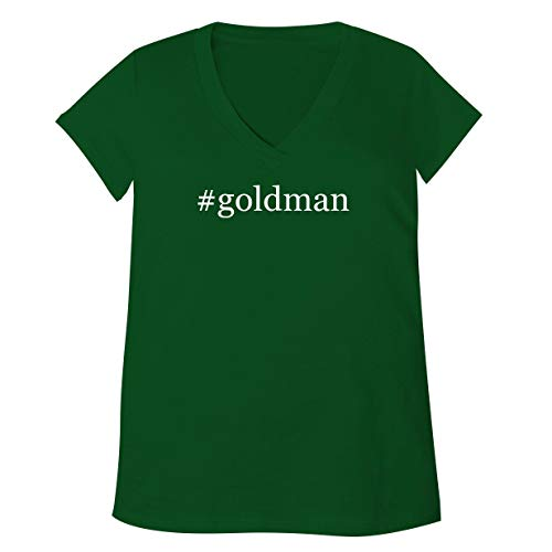 #Goldman - Adult Bella + Canvas B6035 Women's V-Neck T-Shirt, Green, XX-Large