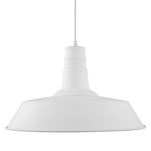 light society stafford large pendant light matte white shade with